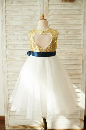 Princessly.com-K1003842-Gold Sequin Ivory Tulle Keyhole Back Wedding Flower Girl Dress-20
