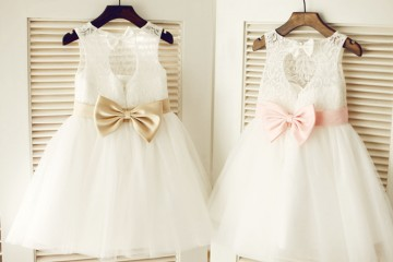 Princessly.com-K1003322-Keyhole Ivory Lace Tulle Wedding Flower Girl Dress/Champagne/Pink Bow Belt-20