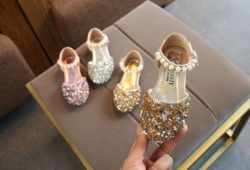Princessly.com-K1003933-Silver/Gold/Pink Beaded Flower Girl Shoes Baby Dancing Kids Sandals Wedding Shoes-20