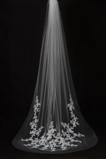 Princessly.com-K1000331-Cathedral Long Length Lace Appliques Wedding Veil-20