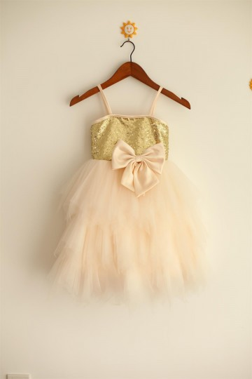 Princessly.com-K1000027-Thin Straps Gold Sequin Champagne Tulle Ruffle Flower Girl Dress-20
