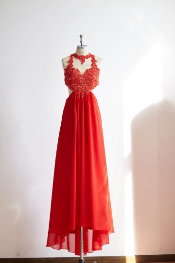 Princessly.com-K1000321-Sexy See Through Backless Red Lace Chiffon Prom Party Dress-20
