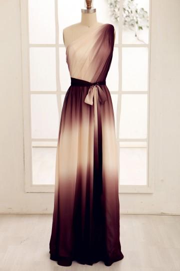 Princessly.com-K1000072-One Shoulder Ombre Chiffon Long Bridesmaid Dress-20