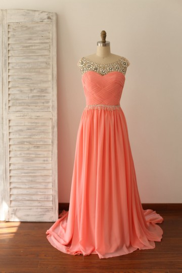 Princessly.com-K1000219-Beaded Coral Chiffon Long Prom Dress-20