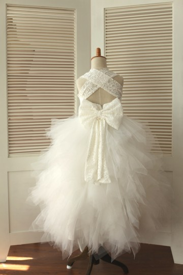 Princessly.com-K1000341-Princess Cross Back Ivory Lace Ruffle Tulle Skirt Flower Girl Dress with big bow-20