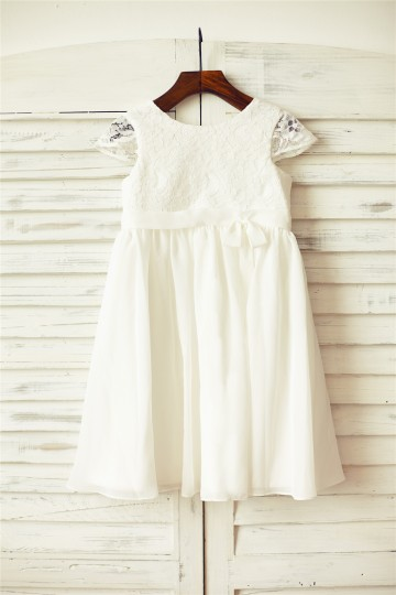 Princessly.com-K1000079-Ivory Lace Chiffon Flower Girl Dress with Cap Sleeves-20