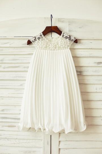 Princessly.com-K1000082-Beaded Ivory Chiffon Flower Girl Dress-20