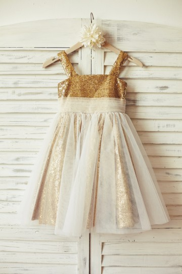 Princessly.com-K1000126-Thin Straps Gold Sequin Ivory Tulle Flower Girl Dress-20