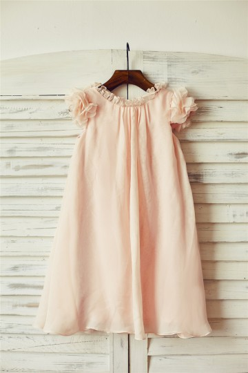 Princessly.com-K1000088-Boho Beach Blush Pink Chiffon Flower Girl Dress with Butterfly Sleeves-20