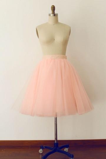 Princessly.com-K1000267-Pink Tulle Sequin Skirt/Short Woman Skirt-20