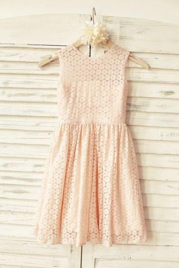 Princessly.com-K1000111-Blush Pink Lace Flower Girl Dress-20