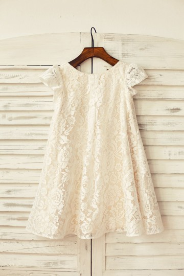 Princessly.com-K1000168-Cap Sleeve Ivory Lace Champagne Lining Flower Girl Dress-20