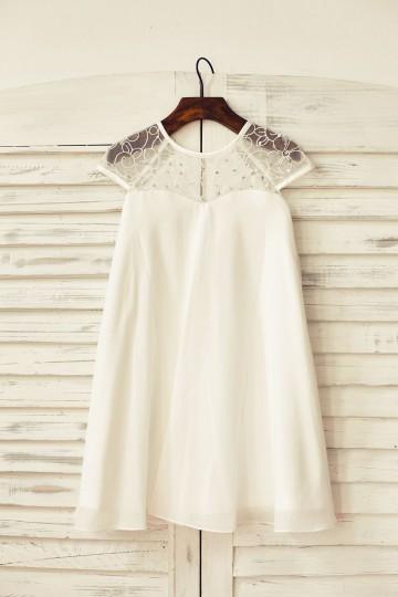 Princessly.com-K1000170-Sheer Neck Ivory Chiffon Flower Girl Dress-20