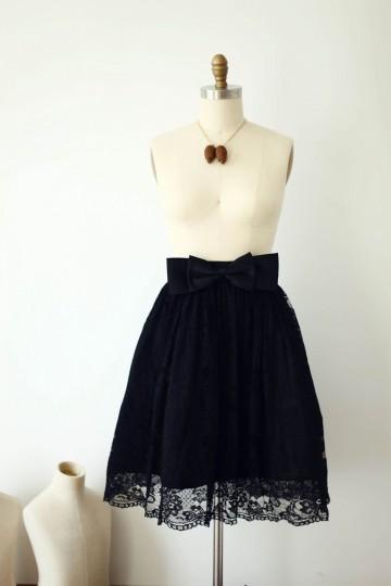 Princessly.com-K1000286-Black Lace Skirt/Short Woman Skirt-20