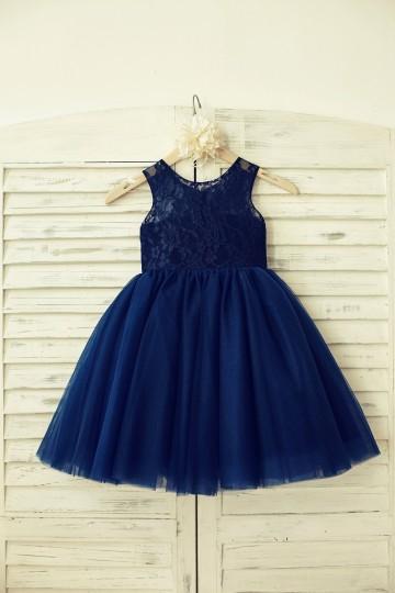 Princessly.com-K1000129-Sheer Neck Navy Blue Lace Tulle Flower Girl Dress-20