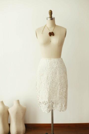 Princessly.com-K1000257-Ivory Lace Satin Skirt-20