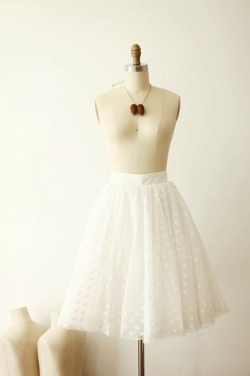 Princessly.com-K1000264-Ivory Polka Dot Tulle TUTU Skirt/Short Women Skirt-20