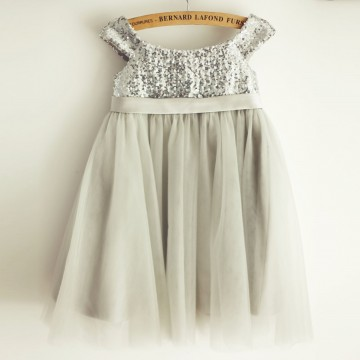 Princessly.com-K1003965-Silver Gray Sequin Tulle Straps Wedding Flower Girl Dress-20