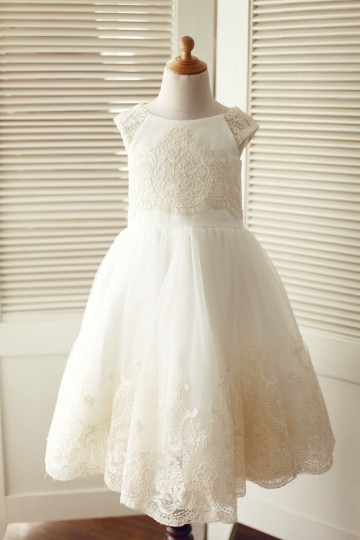 Princessly.com-K1003318-Cap Sleeves Champagne Lace Ivory Tulle Wedding Flower Girl Dress-20