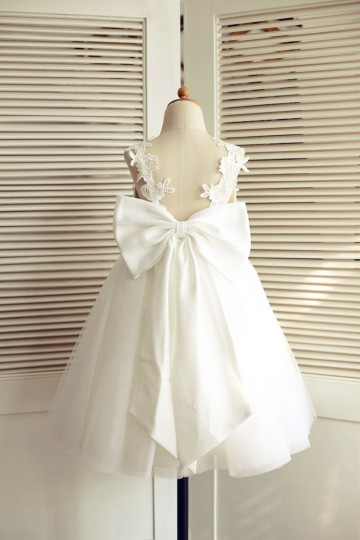 Princessly.com-K1003509-Ivory Lace Tulle V Back Wedding Flower Girl Dress with Big Bow-20