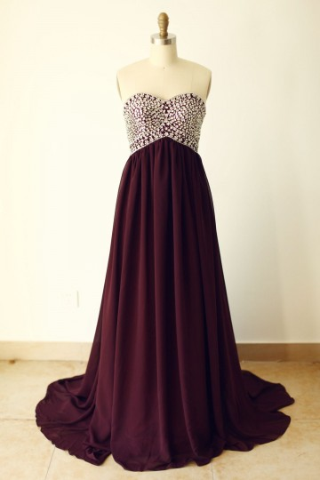 Princessly.com-K1000246-Strapless Sweetheart Wine Red Beaded Chiffon Long Prom Dress-20