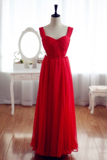Princessly.com-K1001925-Red Chiffon Bridesmaid Dress Prom Dress Backless Party Dress-20