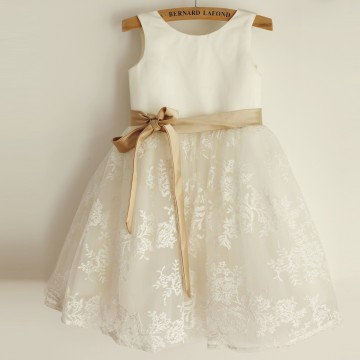 Princessly.com-K1003969-Ivory Lace Satin Wedding Flower Girl Dress with Champagne Belt-20