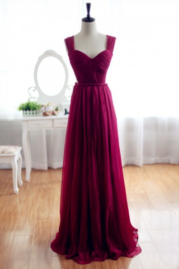 Princessly.com-K1001950-Wine Red Burgundy Chiffon Bridesmaid Dress Prom Dress See Through Back-20