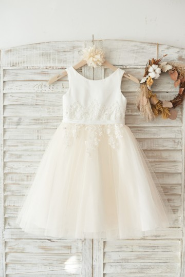 Princessly.com-K1003451-Ivory Satin Champagne Tulle Wedding Flower Girl Dress with Ivory Beaded Lace-20
