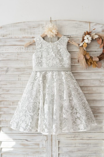 Princessly.com-K1003460-Ivory Lace Deep V Back Wedding Flower Girl Dress with Silver lining/bow-20