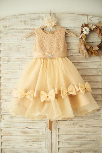 Princessly.com-K1003369-Champagne Lace Organza Wedding Flower Girl Dress with Belt/Bow-20