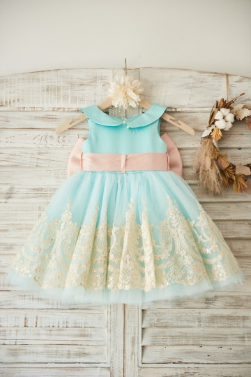 Princessly.com-K1003506-Light Blue Satin Tulle Lace Wedding Flower Girl Dress with Blush Pink Belt/Bow-20