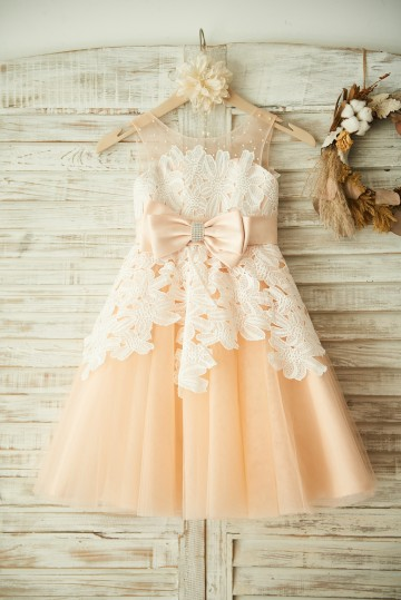 Princessly.com-K1003353-Champagne Tulle Beaded Ivory Lace Wedding Flower Girl Dress Princess Party Dress-20