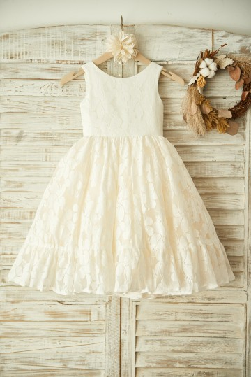 Princessly.com-K1003359-Ivory Lace Champagne Tulle Wedding Flower Girl Dress-20