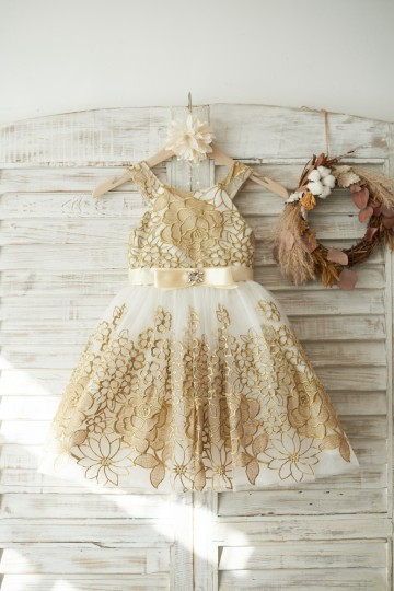 Princessly.com-K1003718-Gold Lace Ivory Tulle Wedding Flower Girl Dress-20