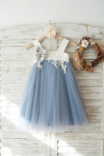 Princessly.com-K1003721-Dusty Blue Tulle Beaded Lace Wedding Flower Girl Dress-20