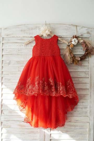 Princessly.com-K1003732-Red Lace Tulle Hi-Low Style Wedding Flower Girl Dress with Big Bow-20