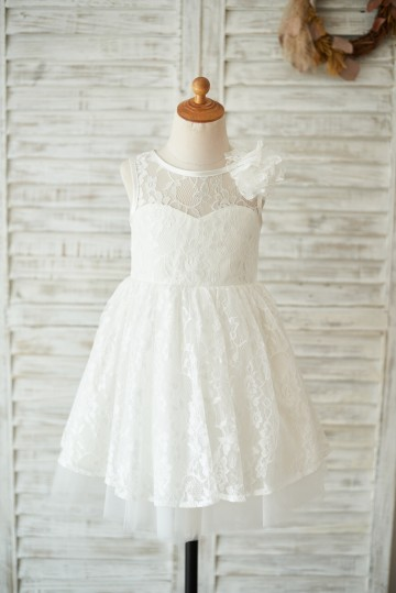 Princessly.com-K1003556-Ivory Lace Tulle V Open Back Wedding Flower Girl Dress with Flower-20