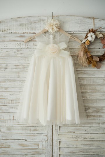 Princessly.com-K1003536-Boho Beach Champagne Tulle Wedding Flower Girl Dress with Bow-20