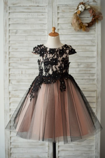 Princessly.com-K1003539-Cap Sleeves Black Lace Tulle Mauve Lining Wedding Flower Girl Dress with Beading-20