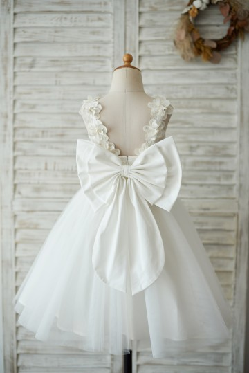 Princessly.com-K1003541-Princess Ivory Lace Tulle V Back Wedding Flower Girl Dress with Big Bow-20