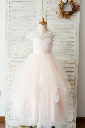 Princessly.com-K1003649-Ivory Lace Pink Tulle Cap Sleeves Wedding Flower Girl Dress with Horsehair Hem-20
