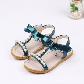Princessly.com-K1003950-Ivory/Green/Pink Bow Rhinestone Pearl Leather Princess Shoes Wedding Flower Girl Shoes-20