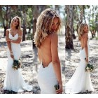 Princessly.com-K1004122-Ivory Lace Spaghetti Straps Backless Wedding Party Dress-01