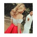 Princessly.com-K1004118-Two Piece Red Chiffon Straps V Back Wedding Party Evening Dress-01