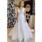 Princessly.com-K1004137-A-line Sleeveless Plunging Neck V-back Lace Tulle Long Bridal Dress-01