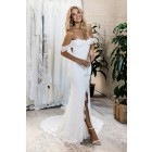 Princessly.com-K1004136-Ivory Strapless Off-shoulder Keyhole Slit Court Train Lace Wedding Dress-01