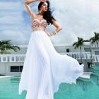 Princessly.com-K1004100-Ivory Chiffon Colored Beading Wedding Prom Evening Party Dress-01