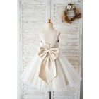 Princessly.com-K1004036 Spaghetti Straps Ivory Lace Tulle Wedding Flower Girl Dress with Champagne Lining-01