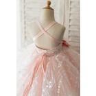 Princessly.com-K1004131-Pink Tulle Beaded Lace Wedding Flower Girl Dress Kids Party Dress-01